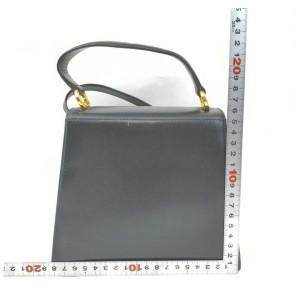 Salvatore Ferragamo Navy Blue Leather Top Handle Kelly 2way Shoulder Bag 861757