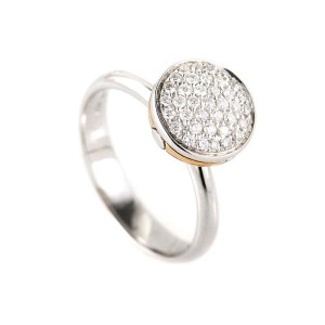 Salvini 18K White & Rose Gold Diamond Ring