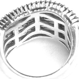 Sterling Silver and Diamond Wave Ring
