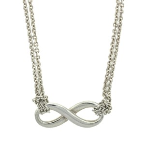 Tiffany & Co. Sterling Silver Infinity Pendant Necklace