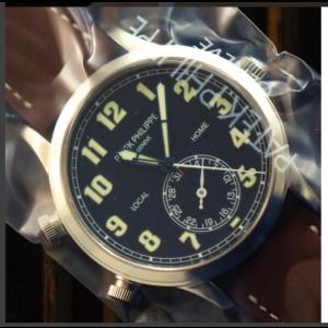 Patek Philippe Calatrava Pilot Travel Time 5524G-001 18K White Gold Mens Watch