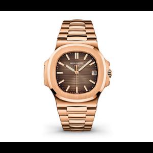 Patek Philippe Nautilus 5711-1r-001 Brown Dial 18k Rose Gold Automatic Mens Watch