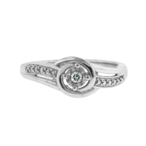 Sterling Silver Modern Bride Ring