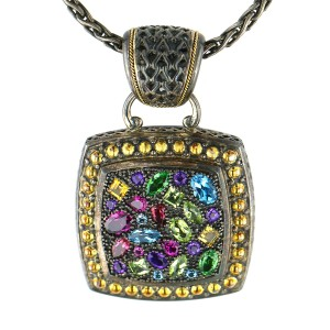 Effy Sterling Silver with Semi-Precious Stones Pendant
