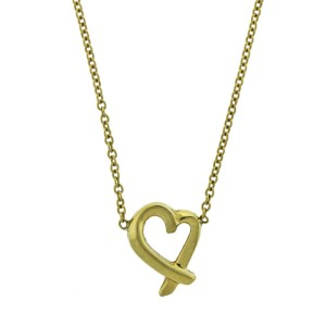 Tiffany & Co. 18k Yellow Gold Paloma Picasso Loving Heart Necklace