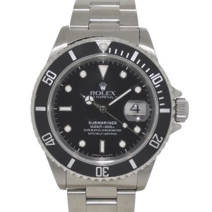 Rolex 16610 Submariner Stainless Steel Black Dial Automatic Mens Watch