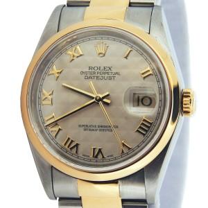 Mens Rolex Two-Tone 18K/SS Datejust Ivory Roman 16203