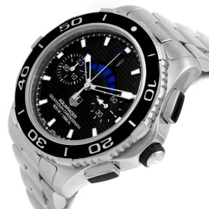 Tag Heuer Aquaracer CAK211A Stainless Steel Black Dial Automatic 43mm Mens Watch