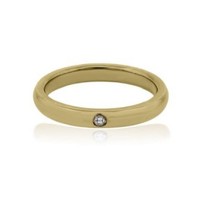 Tiffany Elsa Peretti Yellow Gold Diamond Ring