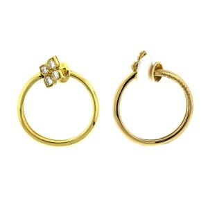 Cartier 18k Yellow Gold Diamond Hoop Earrings