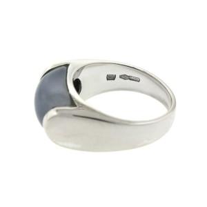 Bvlgari 18k White Gold Chalcedony Ring
