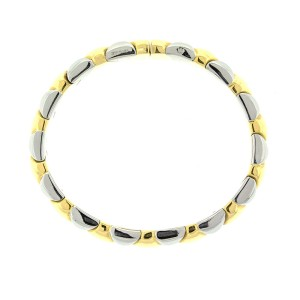 Bvlgari 18k Yellow Gold Two Tone Cuff Bracelet