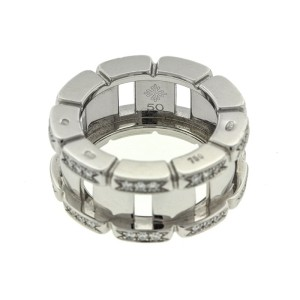 Patek Philippe 18k White Gold Diamond Bar Ring