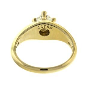 Bulgari 18k Yellow Gold Diamond Engagement Ring