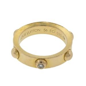 Louis Vuitton 18k Rose Gold Diamond Band Ring