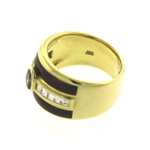 18k Yellow Gold Fancy Brown Diamond Ring