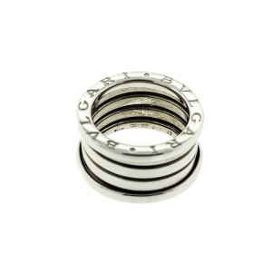 Bvlgari 18k White Gold B.zero 4 Band Ring Size 48