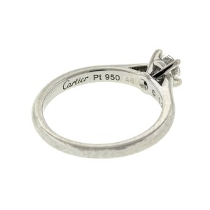 Platinum Cartier Diamond Engagement Ring