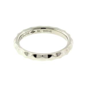 18k White Gold Louis Vuitton Hammered Finish Ring