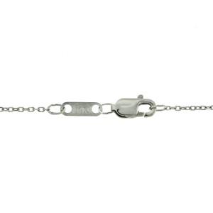 14k White Gold 5 Diamond Drop Necklace
