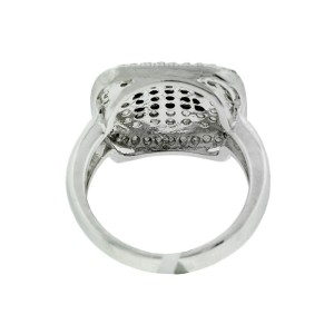 Sterling Silver White and Black Diamond Ring