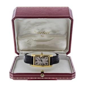 Cartier 18k Yellow Gold Tank Americaine Mens Watch W2603156