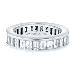 Tiffany & Co. Baguette Cut Diamond Ring 2.48cts Size 4