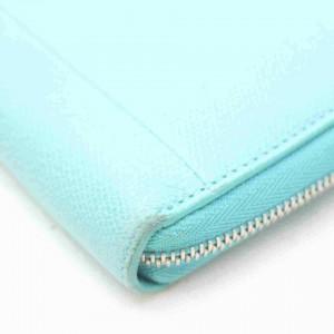 Tiffany & Co. Blue Zip Around Long Wallet Zippy 860546