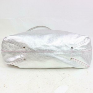 Tiffany & Co. Silver Reversible Shopper Tote with Pouch 871440