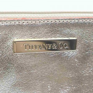 Tiffany & Co. Gold Leather Reversible Tote with Pouch 860063
