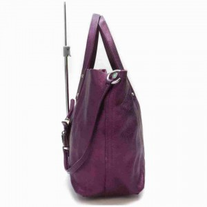 Tiffany & Co. Reversible With Pouch 872953 Purple Leather Tote
