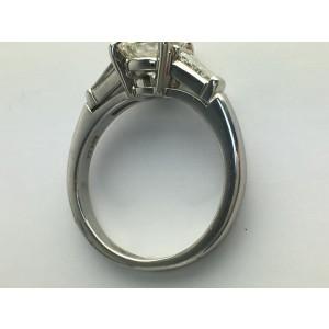 Tiffany & Co. Platinum & 1.28ct Diamond Engagement Ring Size 4.5