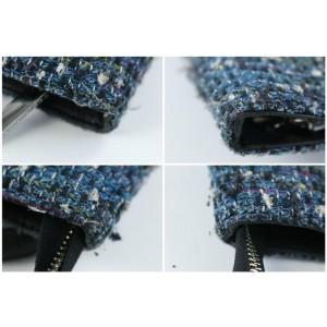 Tory Burch Jayden Logo 24mz0731 Blue Tweed Tote