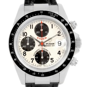 Tudor Tiger Prince 79260 Stainless Steel White Dial 40mm Mens Watch