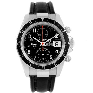 Tudor Tiger Woods 79260 Stainless Steel Black Dial Automatic 40mm Mens Watch