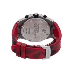 Audemars Piguet Royal Oak Off Shore Stainless Steel Red Camo 42mm Watch