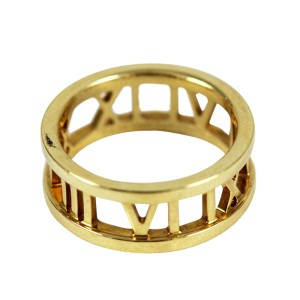Tiffany & Co. 18K Yellow Gold Atlas Ring Size 5