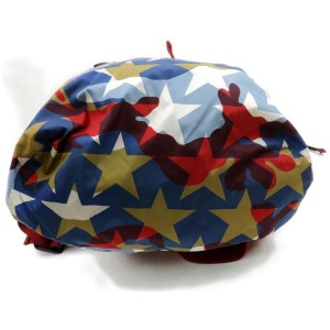 Valentino Blue Printed Camustars Multicolor 871828 Red Nylon Backpack