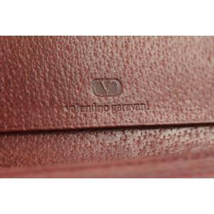 Valentino Garavani Burgundy Leather Long Bifold Flap Wallet 14vk0123