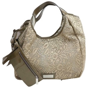 Valentino Hobo Floral with Pouch 872657 Beige Leather Shoulder Bag