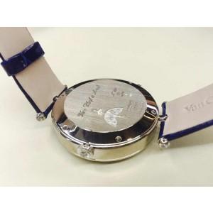Van Cleef & Arpels Ballerine Enchantee 18K White Gold & Leather Diamond 40mm Watch