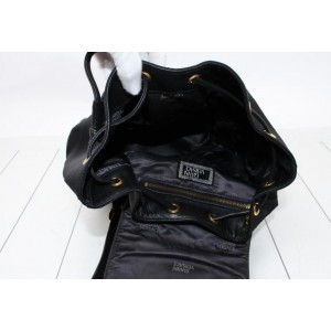 Versace Black Leather Sun Backpack 861079