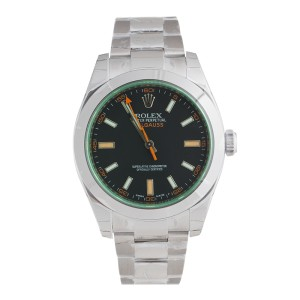 Rolex Milgauss 116400V Green Sapphire Crystal Automatic Watch