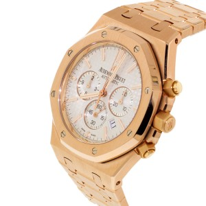 Audemars Piguet Royal Oak Chronograph Rose Gold Mens Watch