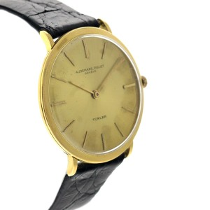 Audemars Piguet AP7 Round Turler Dial 18K Yellow Gold Womens Watch