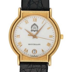 Buccellati Dal 1919 18K Yellow Gold & Leather Quartz 32mm Womens Watch