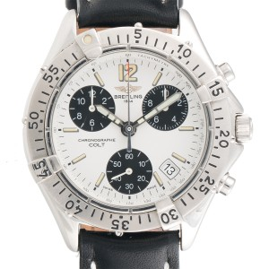 Breitling Colt A53035 Chronograph Stainless Steel Black 41mm Mens Watch