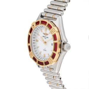 Breitling J Class D52064 Stainless Steel & 18K Yellow Gold Quartz 34mm Womens Watch