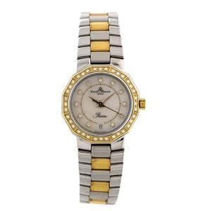 Baume & Mercier Riviera Ladies Yellow Gold & Steel Two Tone MOP Diamond MOA00552 Watch