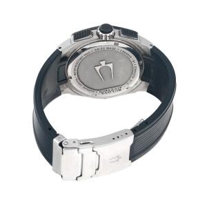 Bulova Accutron Corvara 65B123 Stainless Steel Chronograph 42mm Mens Watch